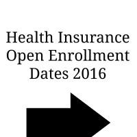 Important Dates for 2016 Health Insurance Open Enrollment